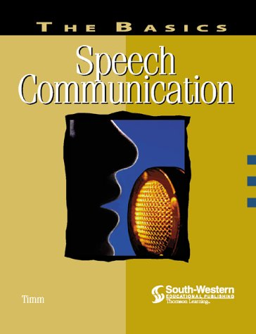 Speech Communication  2nd 2000 (Revised) 9780538722971 Front Cover