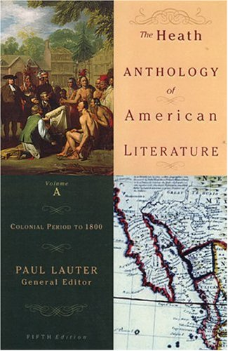 Heath Anthology of American Literature Colonial Period to 1800 5th 2006 edition cover