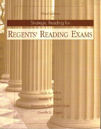 Strategic Reading for Regents' Reading Exams  3rd 2000 (Revised) edition cover