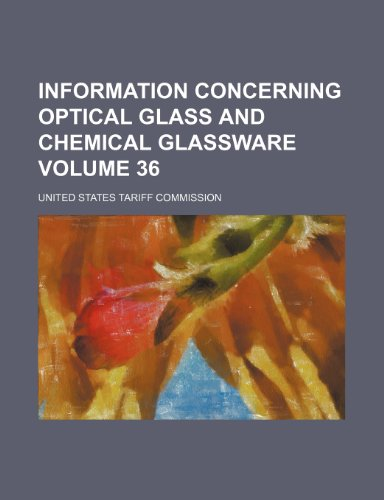 Information Concerning Optical Glass and Chemical Glassware  2010 edition cover