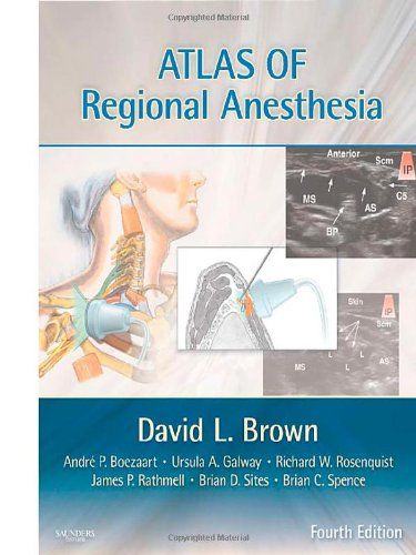 Atlas of Regional Anesthesia  4th 2011 edition cover