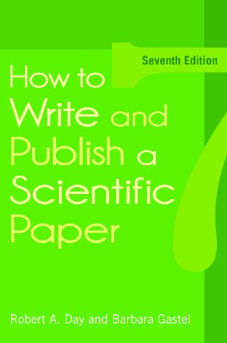 How to Write and Publish a Scientific Paper  7th 2011 edition cover