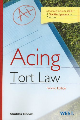 Acing Tort Law  2nd 2012 (Revised) edition cover