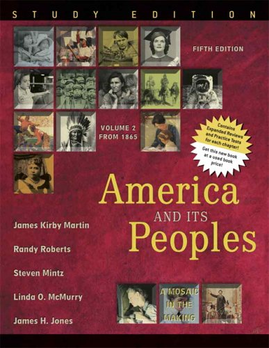 America and Its Peoples A Mosaic in the Making - From 1865 5th 2006 edition cover