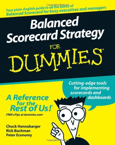 Balanced Scorecard Strategy for Dummies   2007 edition cover