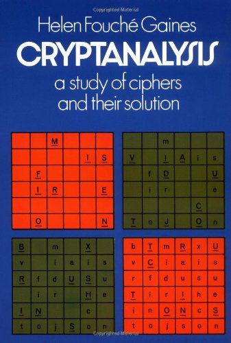 Cryptanalysis A Study of Ciphers and Their Solution N/A edition cover