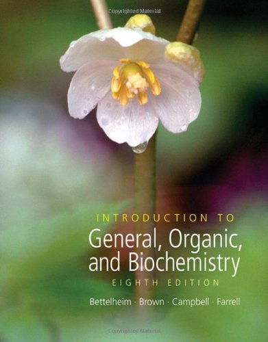 Introduction to General Organic and Biochemistry  8th 2007 edition cover