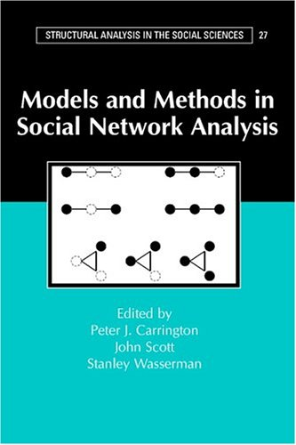 Models and Methods in Social Network Analysis   2005 edition cover