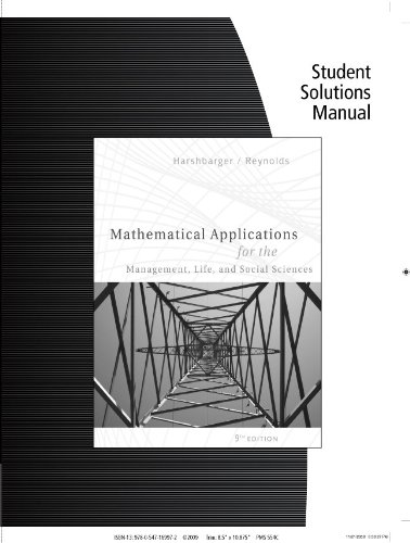 Mathematical Applications for the Management, Life, and Social Sciences  9th 2009 9780547169972 Front Cover