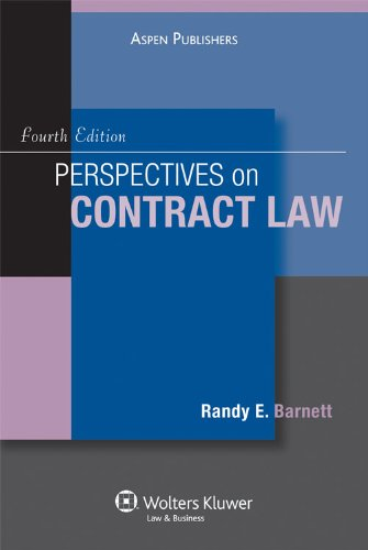 Perspectives on Contract Law  4th 2009 (Student Manual, Study Guide, etc.) edition cover