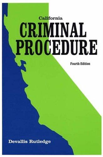California Criminal Procedure  4th 2000 (Revised) edition cover