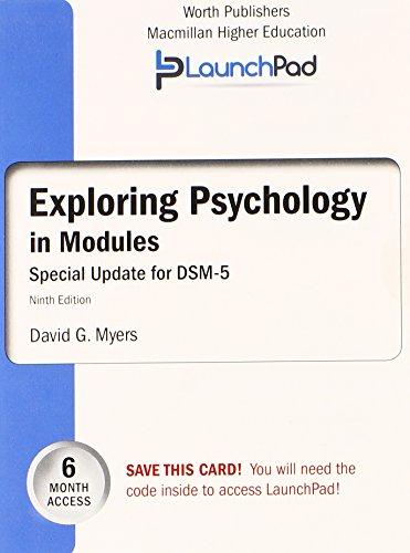 EXPLORING PSYCHOLOGY IN MODULES-ACCESS  N/A edition cover