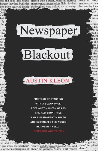 Newspaper Blackout   2010 edition cover