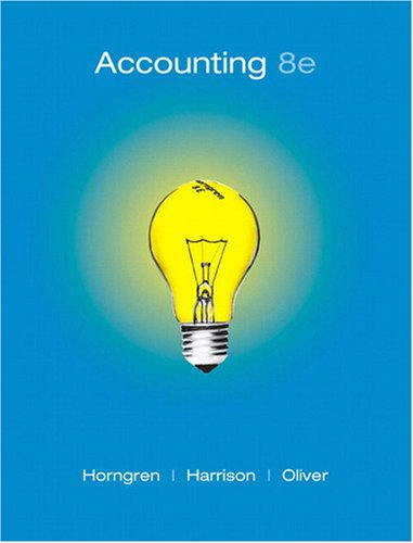 Accounting, Chapters 1-23  8th 2009 edition cover