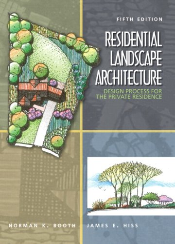 Residential Landscape Architecture Design Process for the Private Residence 5th 2008 edition cover