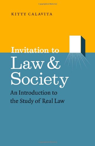 Invitation to Law and Society An Introduction to the Study of Real Law  2010 edition cover