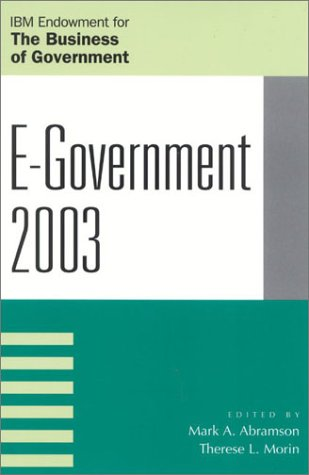 E-Government 2003  N/A 9780742527973 Front Cover