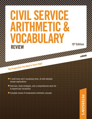 Civil Service Arithmetic and Vocabulary Review  15th 2004 edition cover