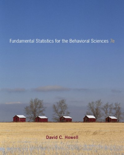 Fundamental Statistics for the Behavioral Sciences  7th 2011 edition cover