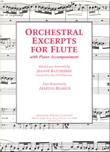 Orchestral Excerpts For Flute With Piano Accompaniment  - Flute Solo, Piano N/A edition cover
