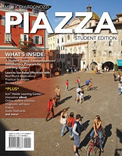 Piazza   2015 (Student Manual, Study Guide, etc.) 9781285076973 Front Cover