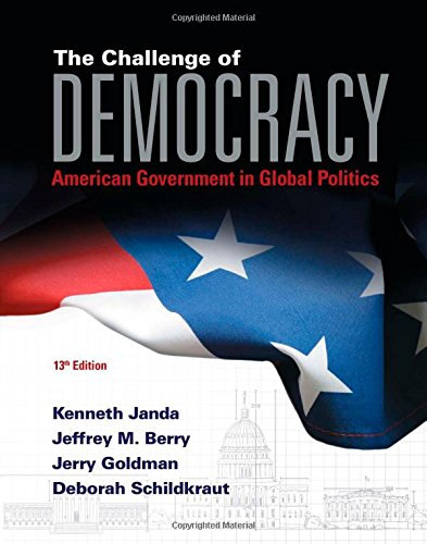 The Challenge of Democracy + Mindtap Political Science Access Card: American Government in Global Politics  2015 edition cover