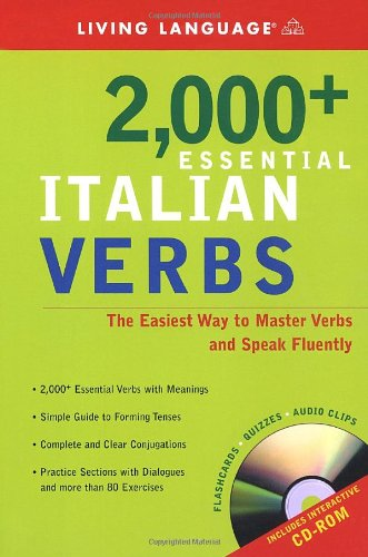 2000+ Essential Italian Verbs The Easiest Way to Master Verbs and Speak Fluently  2005 (Large Type) 9781400020973 Front Cover