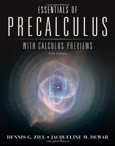 Essentials of Precalculus with Calculus Previews  5th 2012 edition cover