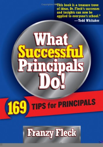 What Successful Principals Do 169 Tips for Principals  2005 edition cover