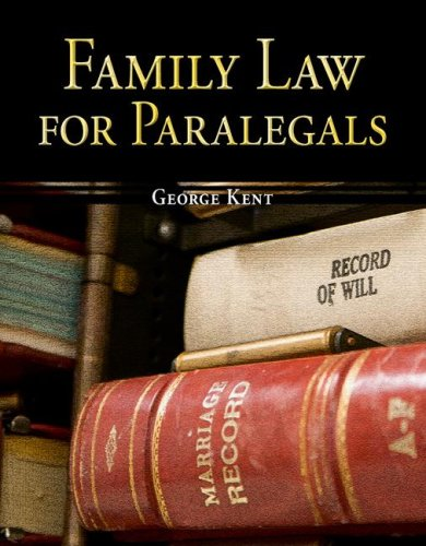 Family Law for Paralegals   2009 edition cover