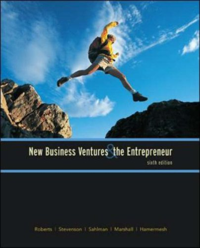 New Business Ventures and the Entrepreneur  6th 2007 (Revised) edition cover
