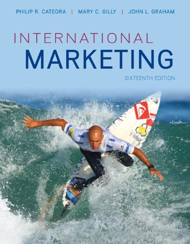 International Marketing  16th 2013 9780073529974 Front Cover