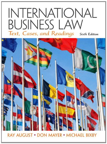 International Business Law  6th 2013 (Revised) edition cover