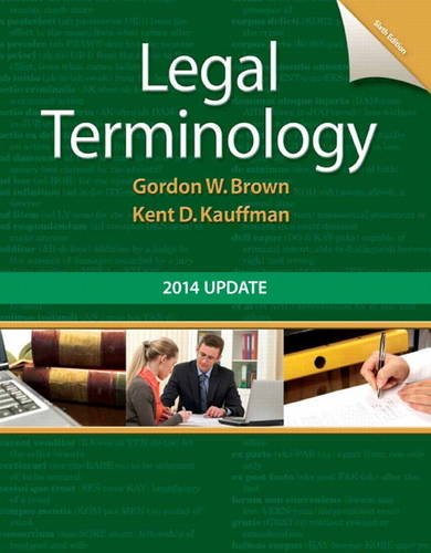 Legal Terminology  6th 2014 9780133766974 Front Cover