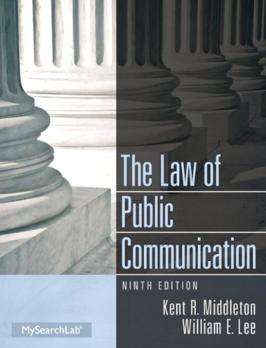 Law of Public Communication Plus MySearchLab with EText -- Access Card Package  9th 2014 edition cover