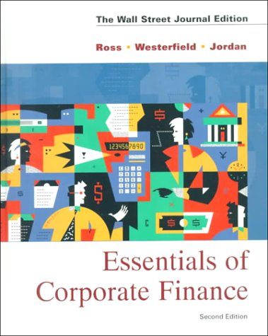 Essentials of Corporate Finance:  2nd 1998 9780256261974 Front Cover