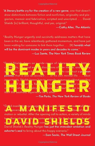Reality Hunger A Manifesto N/A edition cover