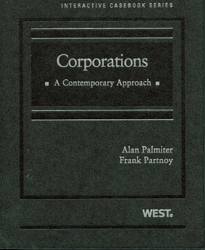Corporations A Contemporary Approach  2010 edition cover
