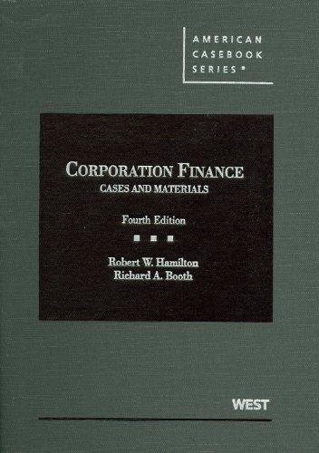 Corporation Finance Case and Materials 4th 2012 (Revised) edition cover