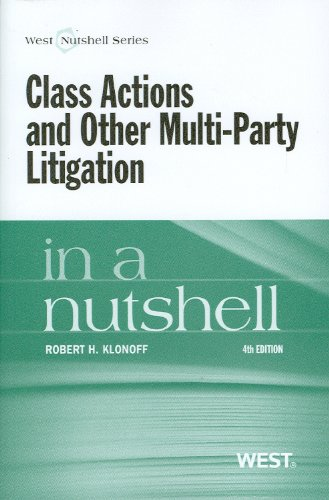 Class Actions and Other Multi-Party Litigation  4th 2012 (Revised) edition cover