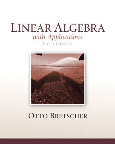 Linear Algebra with Applications  5th 2013 edition cover