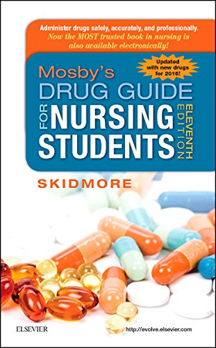 Mosby's Drug Guide for Nursing Students, with 2016 Update  11th 2015 edition cover