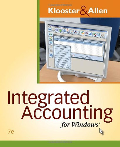 Integrated Accounting for Windows�  7th 2011 edition cover