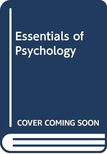 Essentials of Psychology 2nd 2002 9780618122974 Front Cover