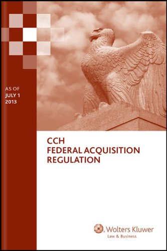 Federal Acquisition Regulation (FAR) - As of July 1 2013  N/A edition cover