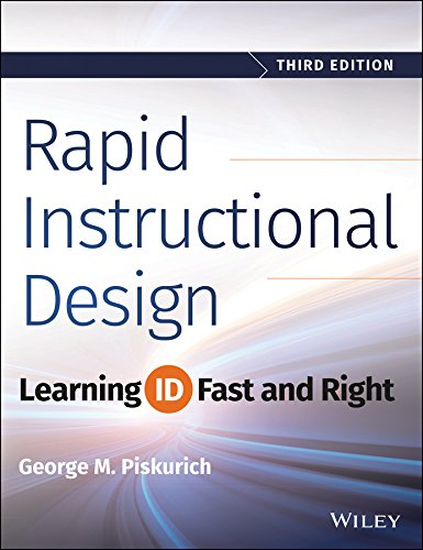 Rapid Instructional Design Learning ID Fast and Right 3rd 2015 9781118973974 Front Cover