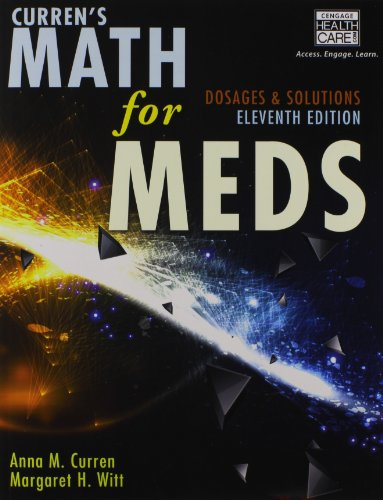 Math for Meds Dosages and Solutions 11th 2015 edition cover