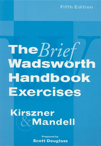 Exercises for Kirszner/Mandell's the Brief Wadsworth Handbook, 5th  5th 2007 9781413021974 Front Cover