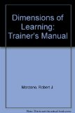 Dimensions of Learning Teachers Manual, 2nd Edition  2nd 2009 edition cover