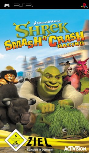 Shrek's Smash n Crash Sony PSP artwork